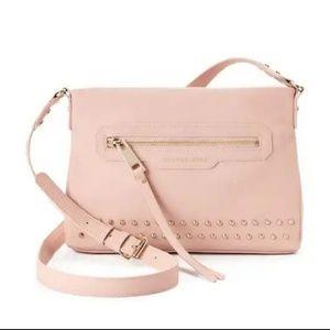 NEW! Dusty Rose Pink Studded Crossbody Bag